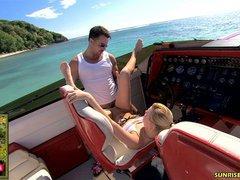 Pornstar Yasmine Gold speed boat fuck