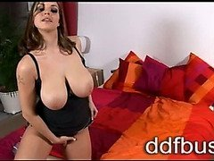 Sweet busty babe Liana gets fucked in a hardcore threesome