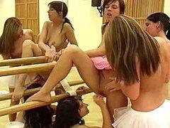 Lesbian ballet class