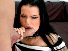 Slut loves to gobble cock